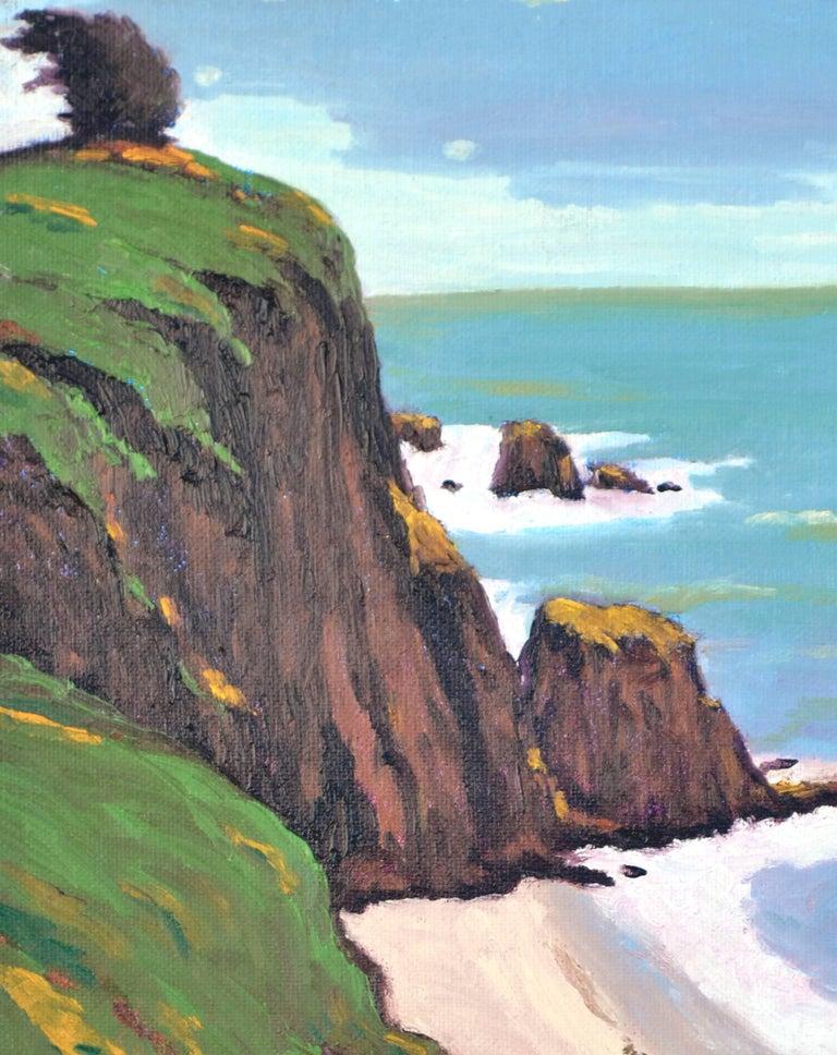 Coastal Bluffs by Jesse Don Rasberry - Contemporary Painting by Jesse Don Rasberry