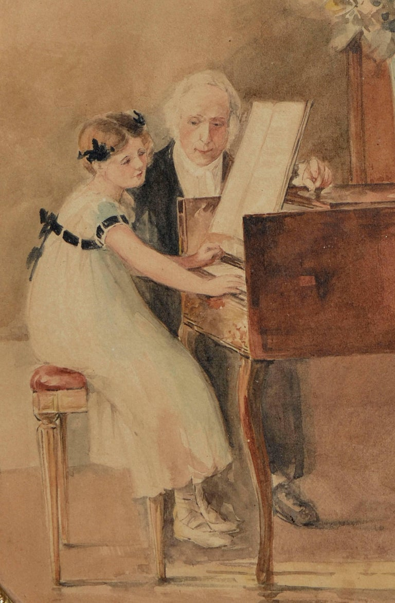 The First Piano Lesson - Art by Edward Volkman