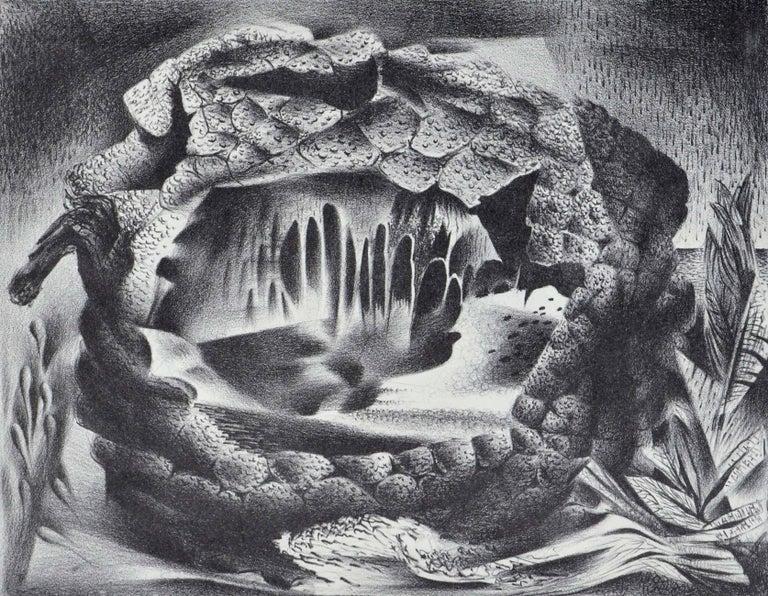 Mid Century Modern Breadfruit Abstract  - Print by Raymond Edwin Brose