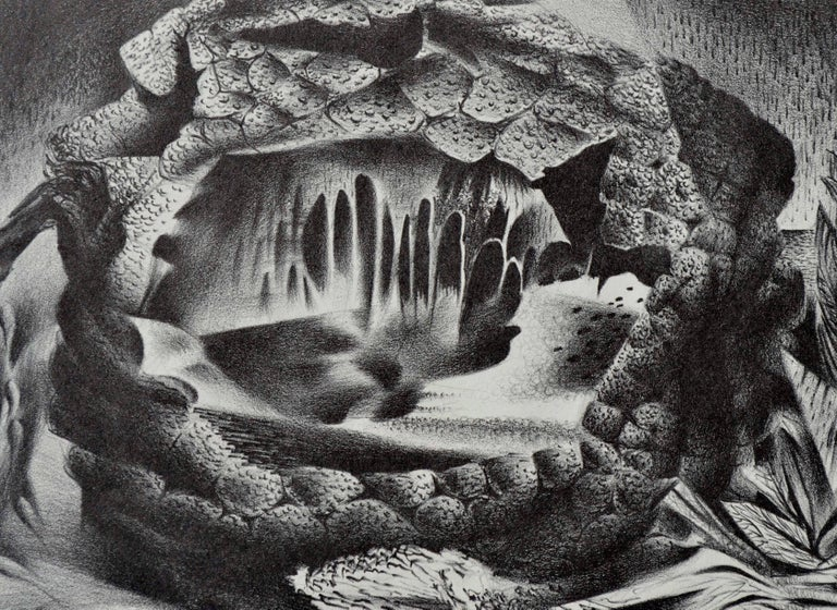 Mid Century Modern Breadfruit Abstract  - American Modern Print by Raymond Edwin Brose