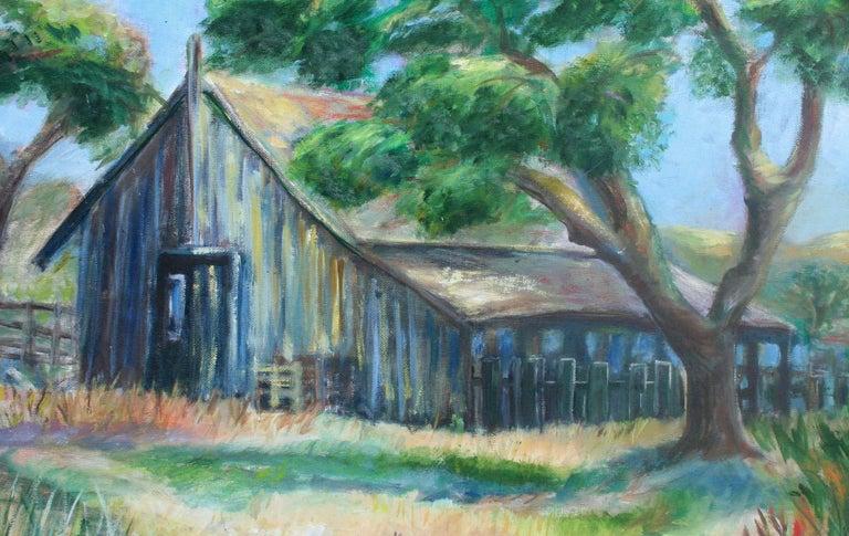 Old Barn Landscape - Painting by Irma Edy Caprini