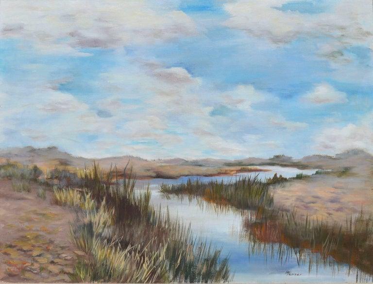 Mildred Vejtasa Fenner Coastal Slough Painting For Sale