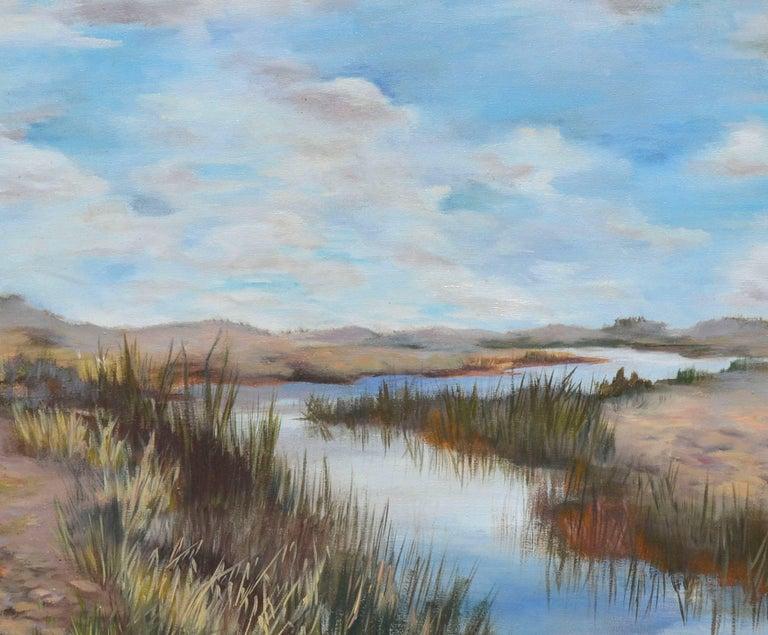 Coastal Slough - American Impressionist Painting by  Mildred Vejtasa Fenner