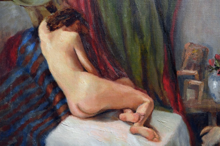 Reclining Nude Figure  - Painting by David Hunt