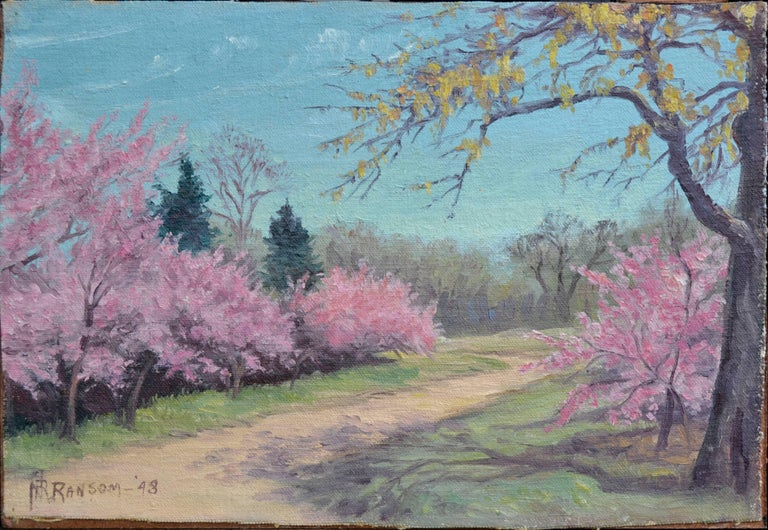 Cherry Blossoms - Painting by Nannie Ruth Ransom