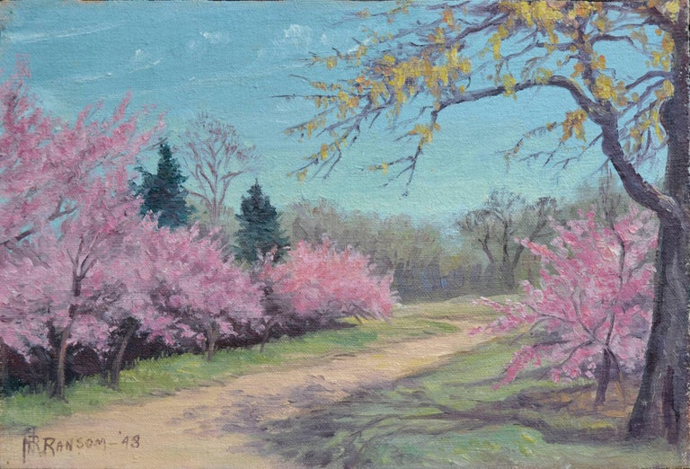 Nannie Ruth Ransom Landscape Painting - Cherry Blossoms