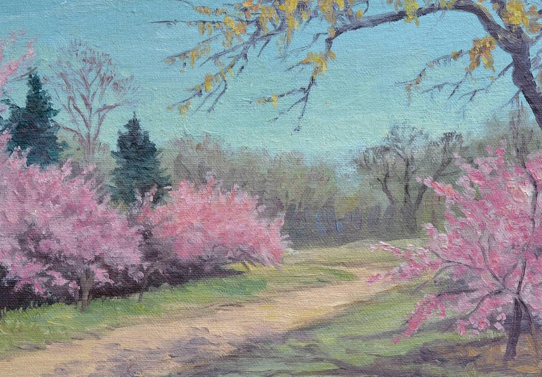 Cherry Blossoms - American Impressionist Painting by Nannie Ruth Ransom