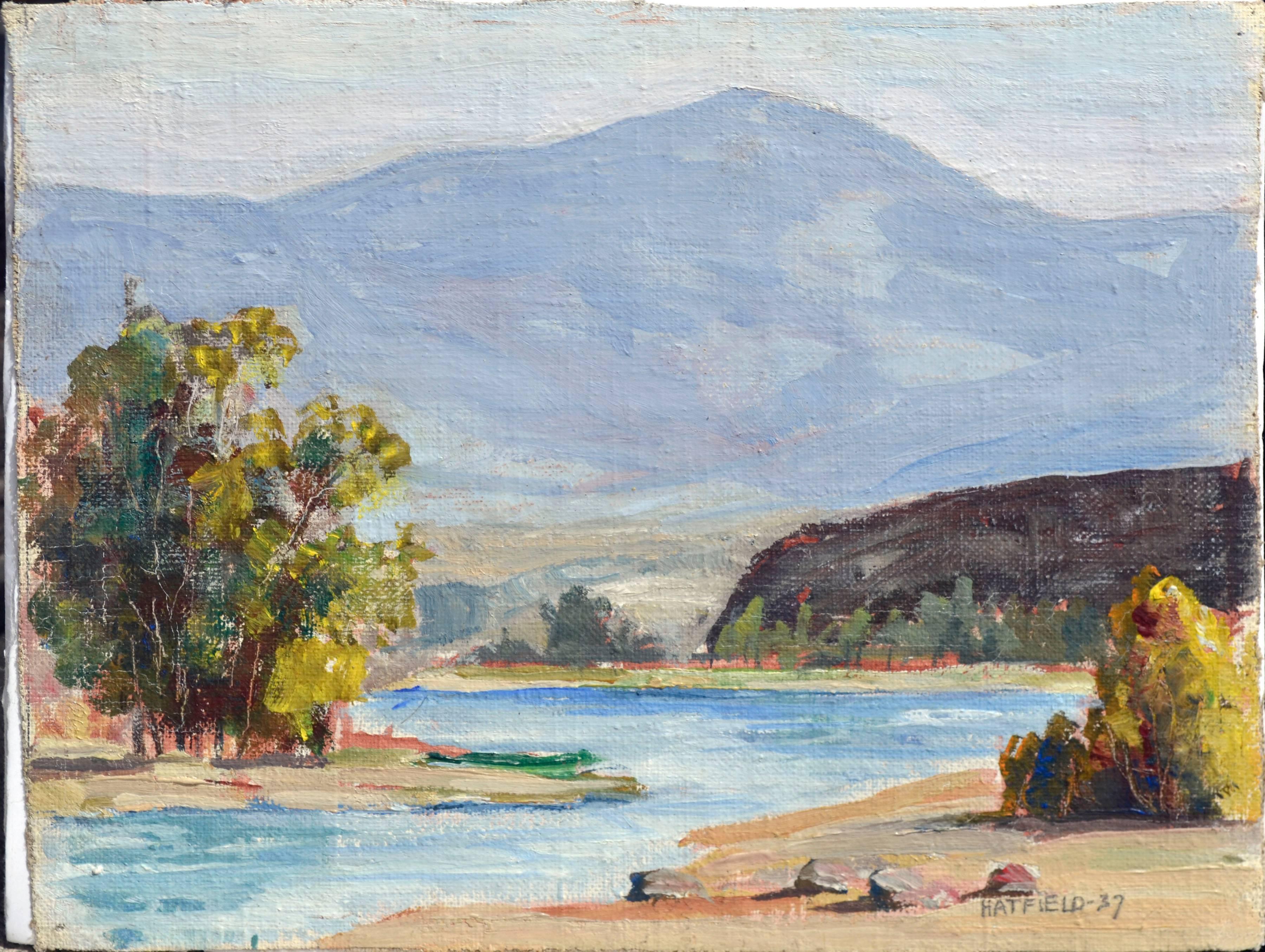 Mid Century Quiet Stream Landscape