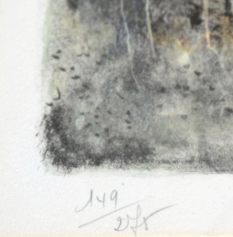 Bord de la forêt et maisons sous la neige by Bernard Gantner For Sale 3