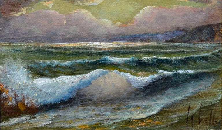 Evening Tide - Painting by Ed LaVelle