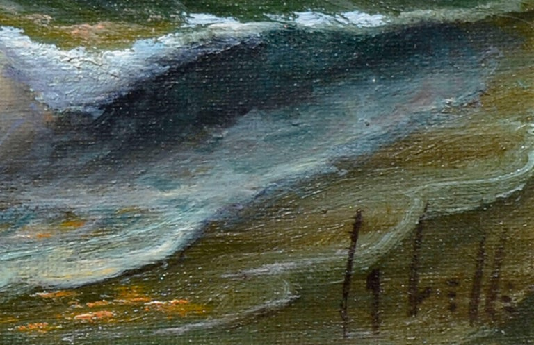 Evening Tide - Brown Landscape Painting by Ed LaVelle