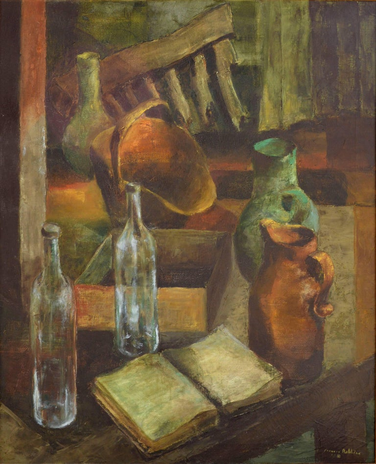Mid Century Kitchen Still Life - Painting by Frances Robbins