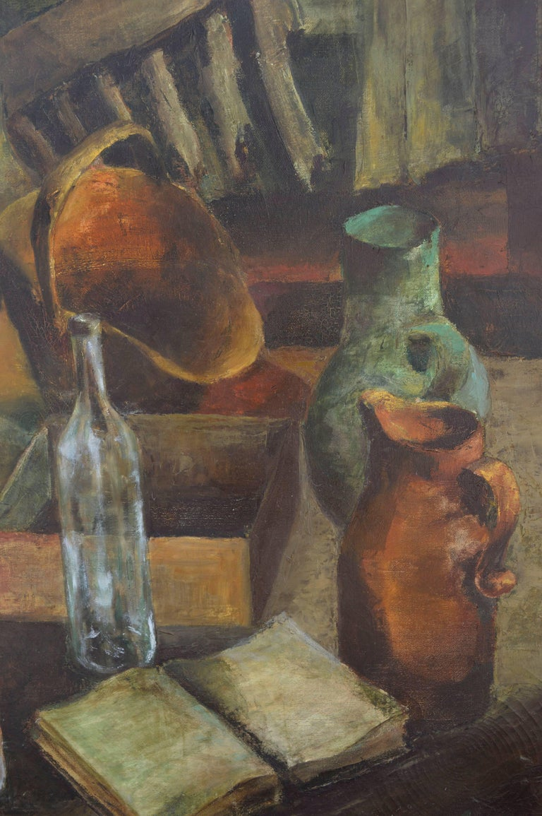 Mid Century Kitchen Still Life - American Impressionist Painting by Frances Robbins