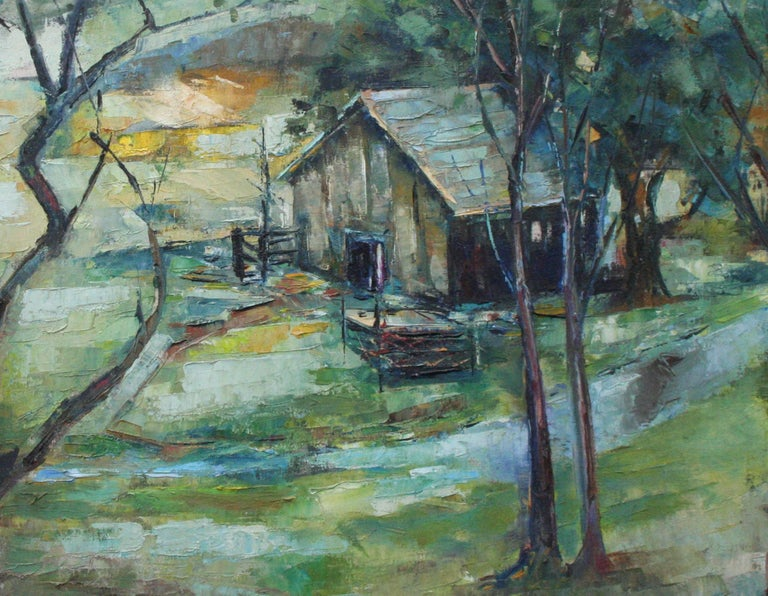 Mid Century Landscape --  California Creek - Painting by Bonita Salvater Van Craeynest