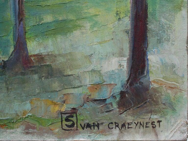 Mid Century Landscape --  California Creek - American Impressionist Painting by Bonita Salvater Van Craeynest