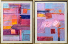 Two Sunset Geometric San Francisco Bay Area Abstracts