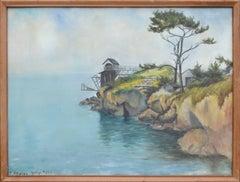 Small Lumber Schooner Harbor, California 1905