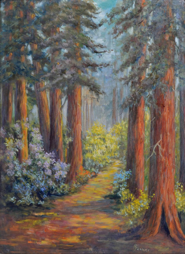 Henry Cowell Redwoods  - Painting by  Mildred Vejtasa Fenner
