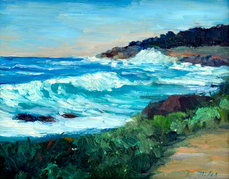 Point Lobos Coast - Painting by Shigeko Miles
