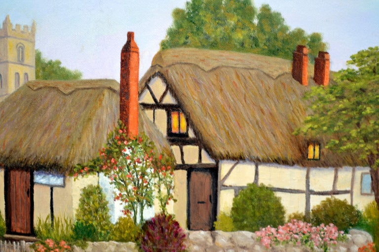 Countryside Cottage - American Impressionist Painting by Doreen Amaral