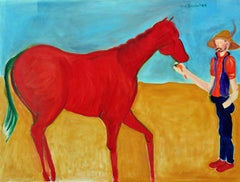 Red Horse & Cowboy by Molly Brubaker