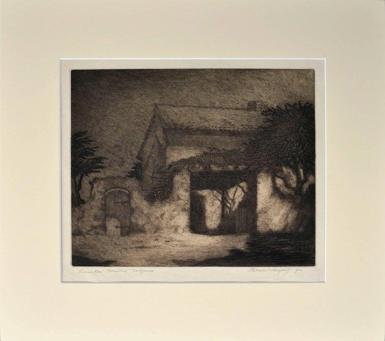 Ferdinand Burgdorff Landscape Print - Sherman Rose House, Monterey California