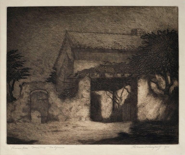 Sherman Rose House, Monterey California - Print by Ferdinand Burgdorff