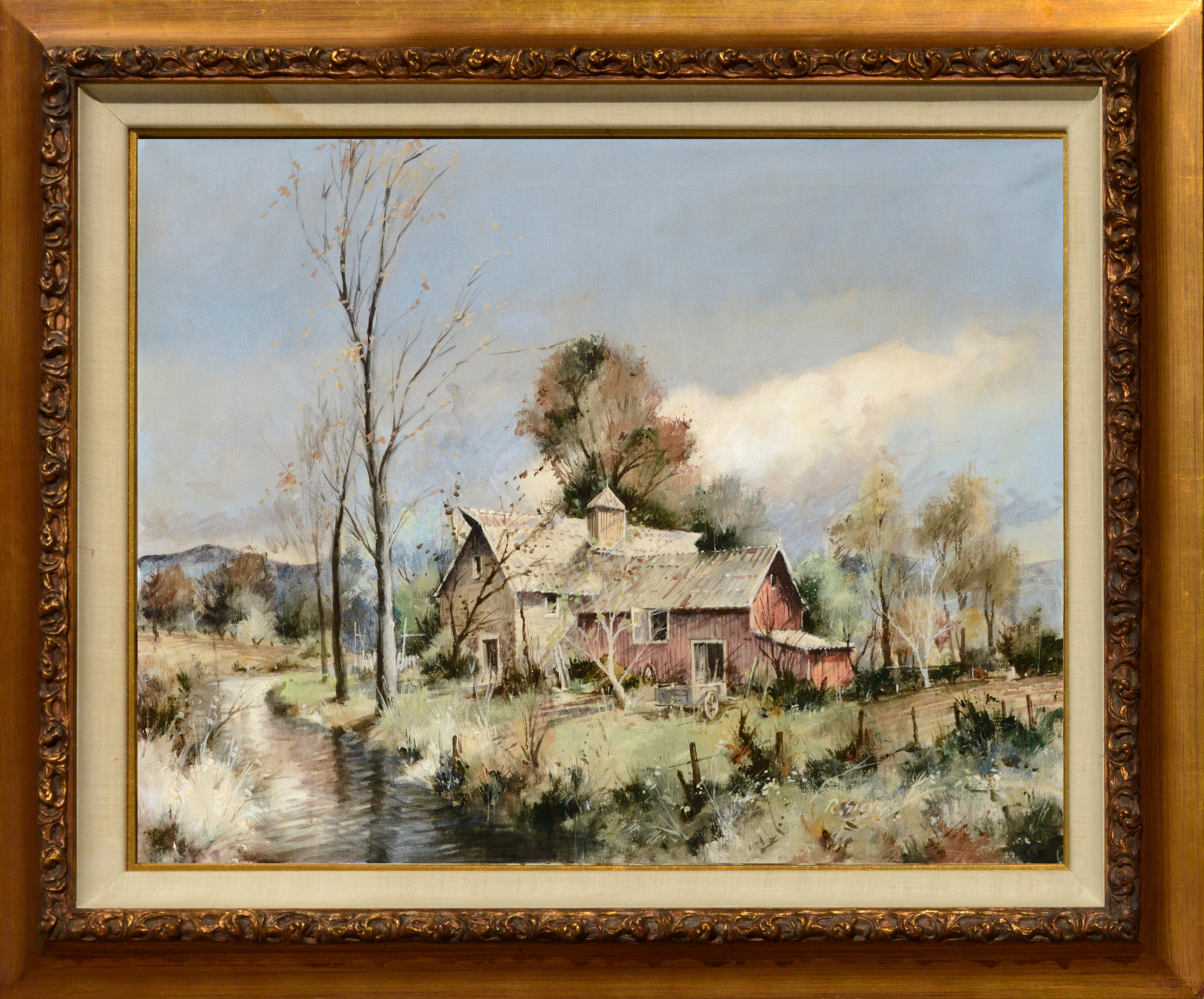 Rein Sievers Country House Farm Landscape For Sale At 1stdibs