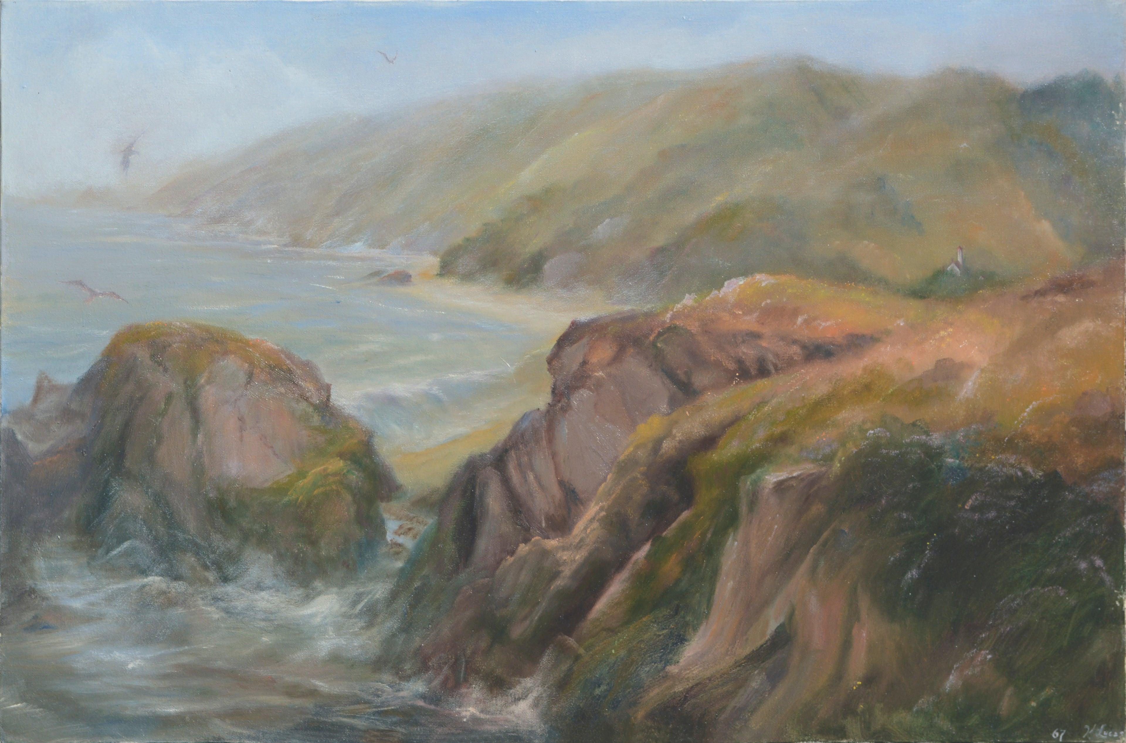 Big Sur Cove - Landscape by Kenneth Lucas