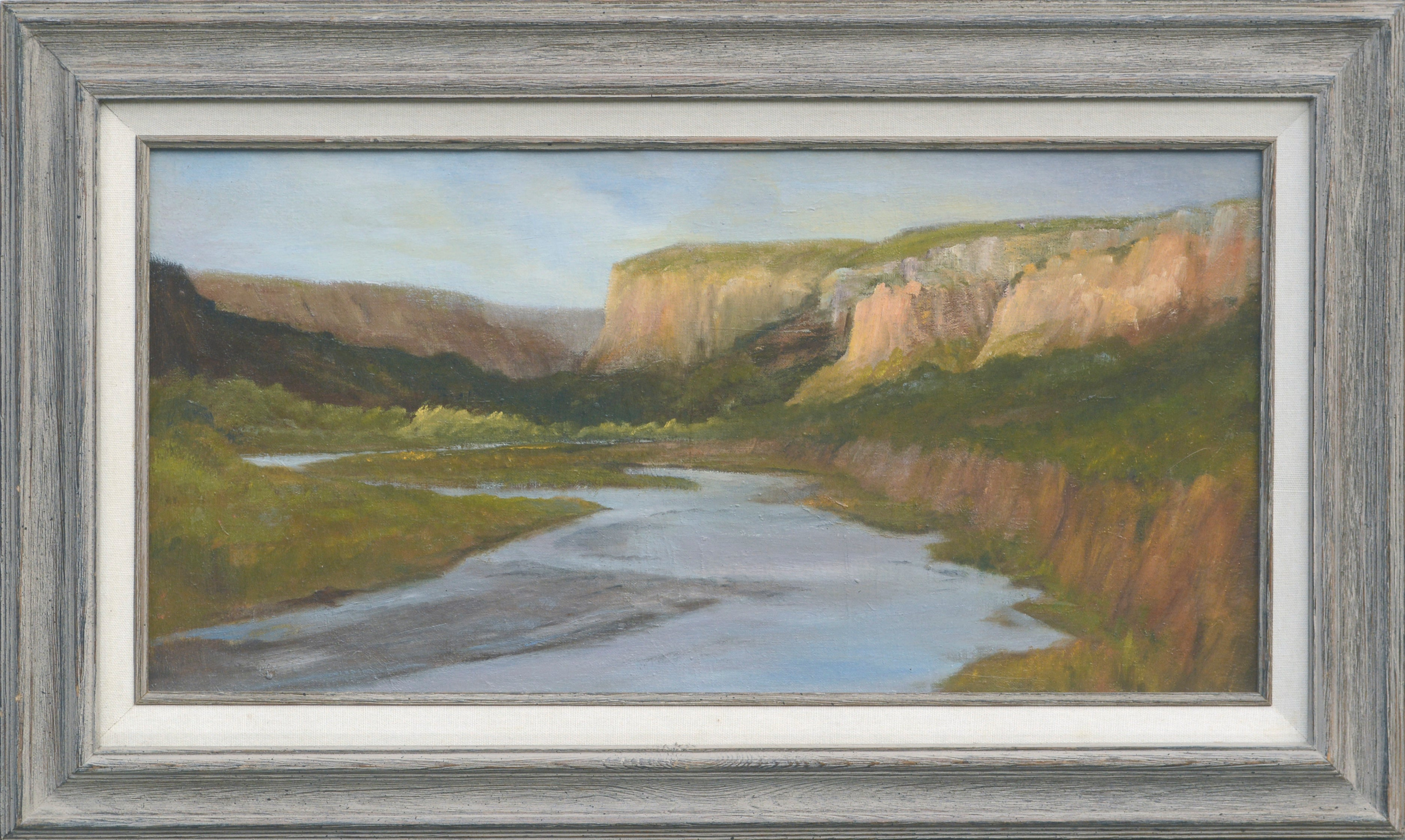 The River Mouth - Landscape by Kenneth Lucas