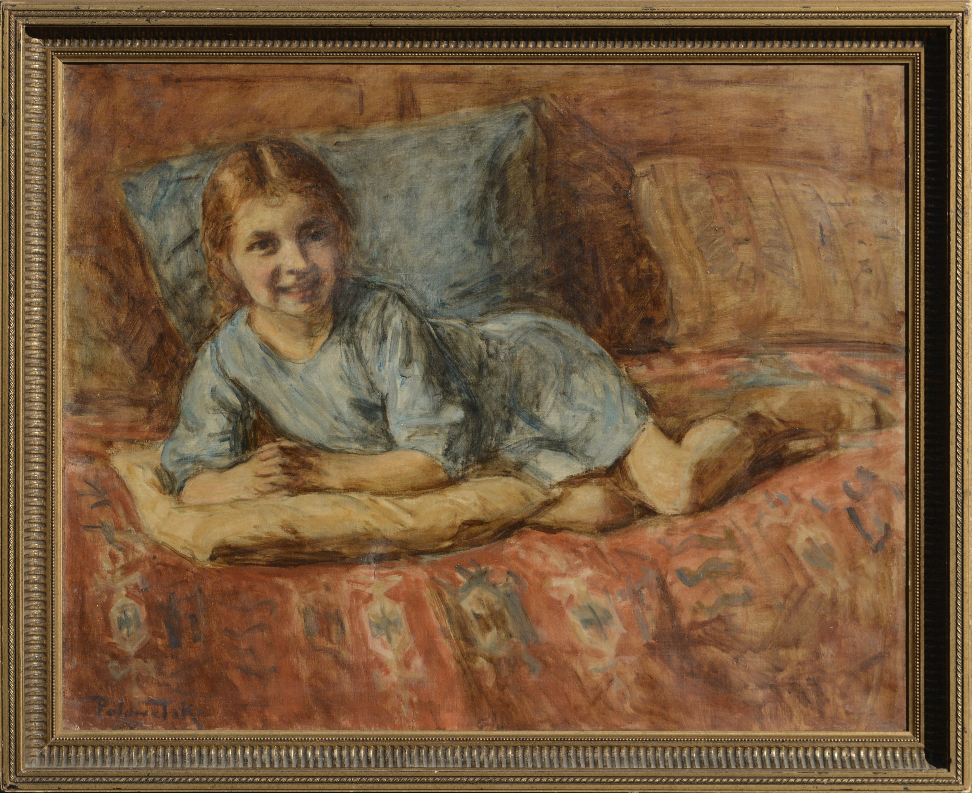 Portrait of a Young Girl in Blue