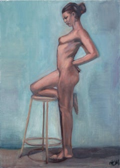 Nude Figure with Stool