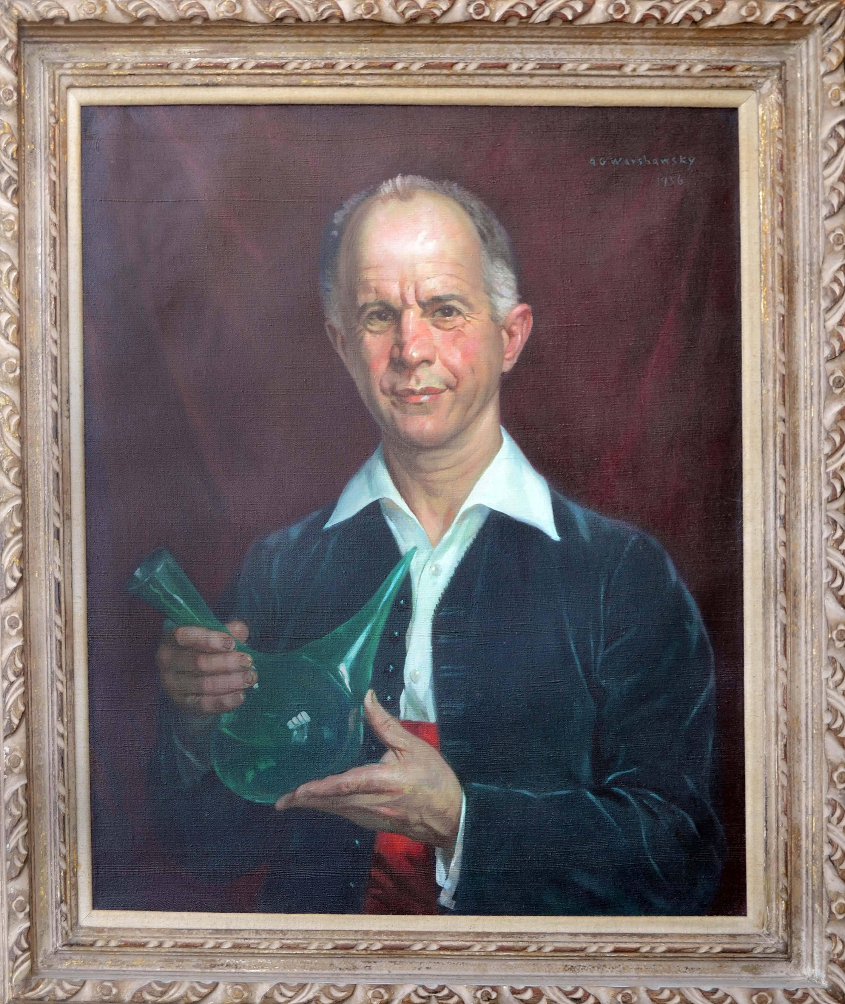 Wine Enologist Claude Wolf - Mid Century Portrait