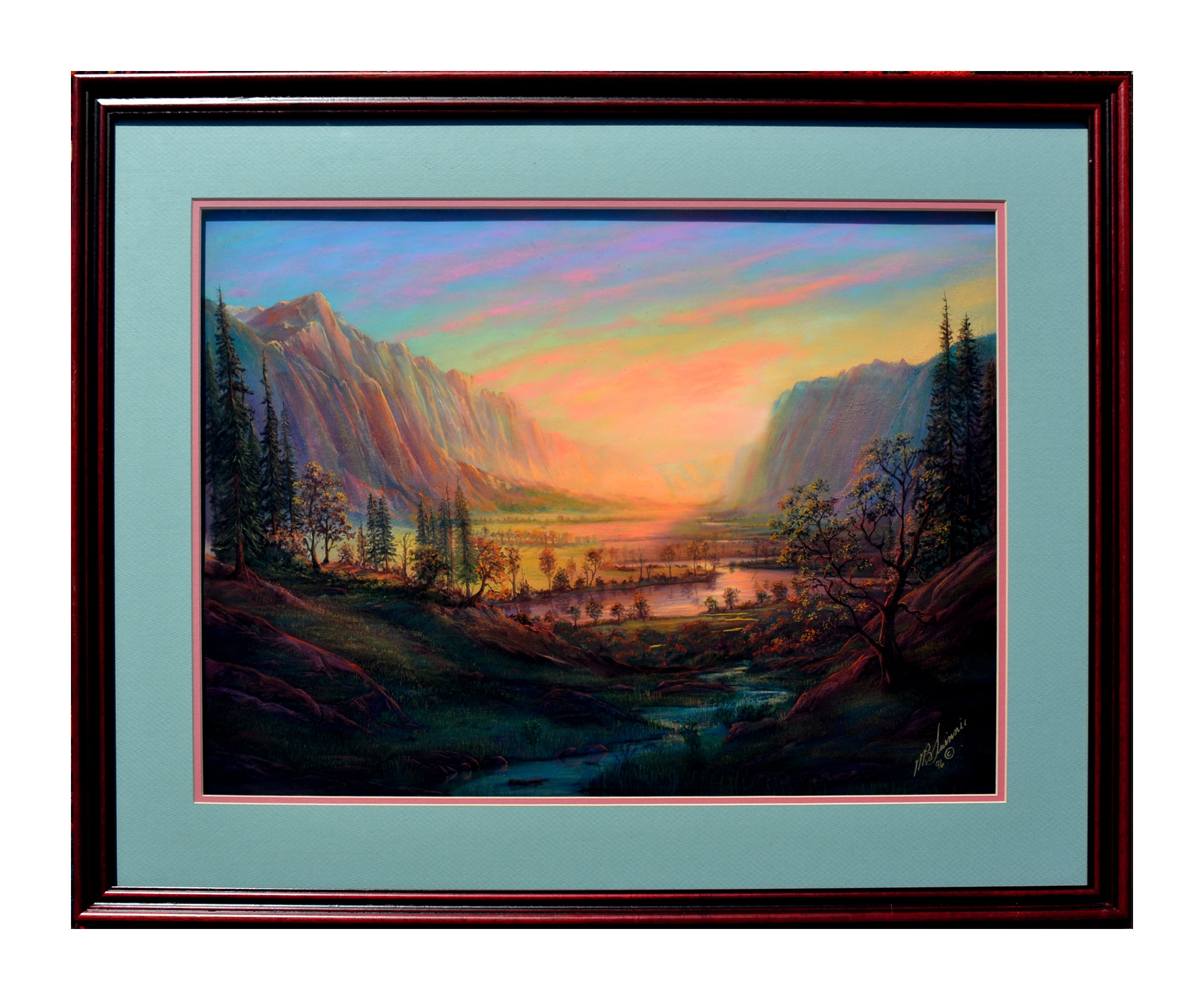 California Valley Landscape Master Pastel