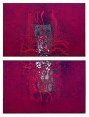 Red on Red Diptych by John O. Thomson