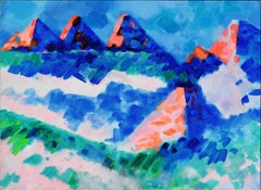 Summer Mountains, Wyoming Abstracted Landscape