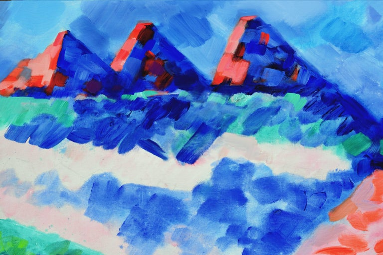Summer Mountains, Wyoming Abstracted Landscape - Painting by Erle Loran