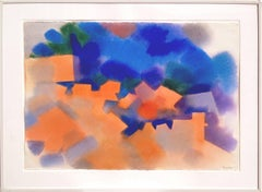 Sierra County Abstracted Landscape Watercolor