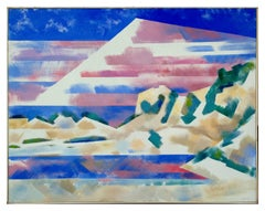 Mountains and High Desert Abstracted Landscape