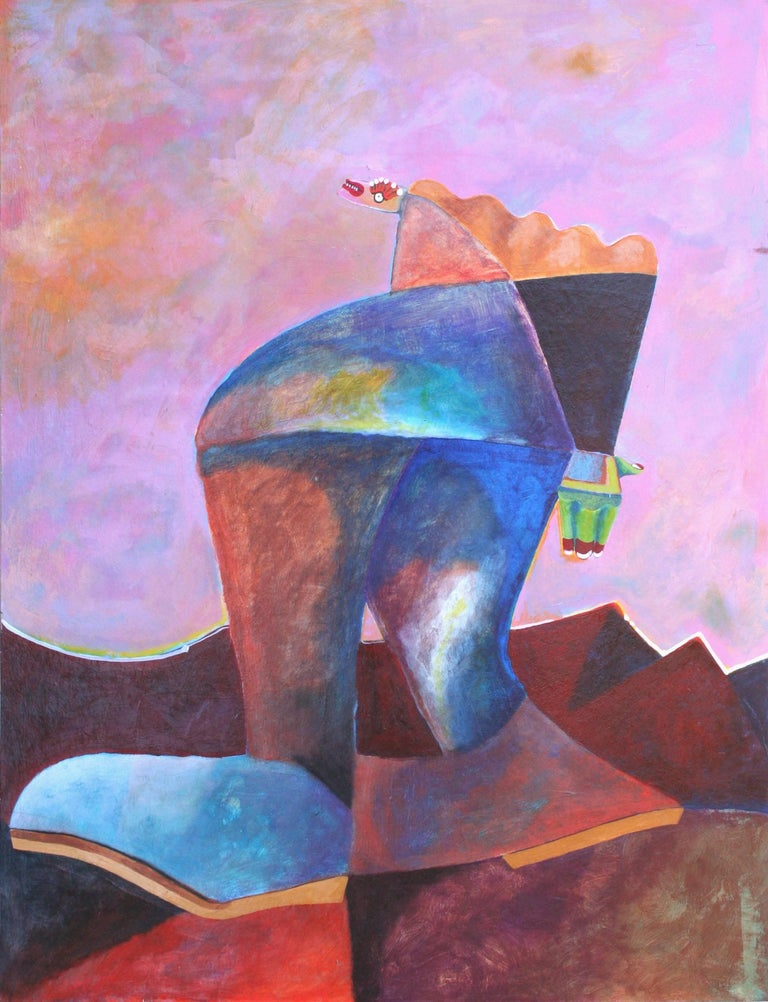 Michael William Eggleston Figurative Painting - Walking Figure