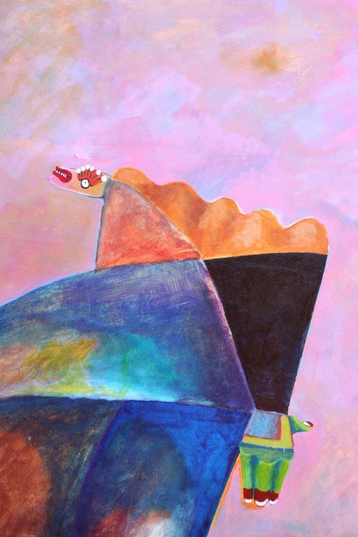 Walking Figure - Painting by Michael William Eggleston