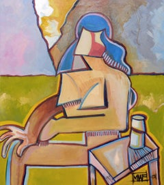 The Seated Woman Abstracted Figurative