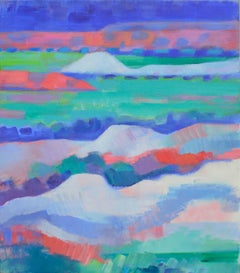 Two sided John Day Painted Desert / Wyoming Mining Hills Abstracted Landscape