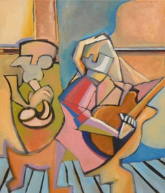 Two Musicians Abstracted Figurative