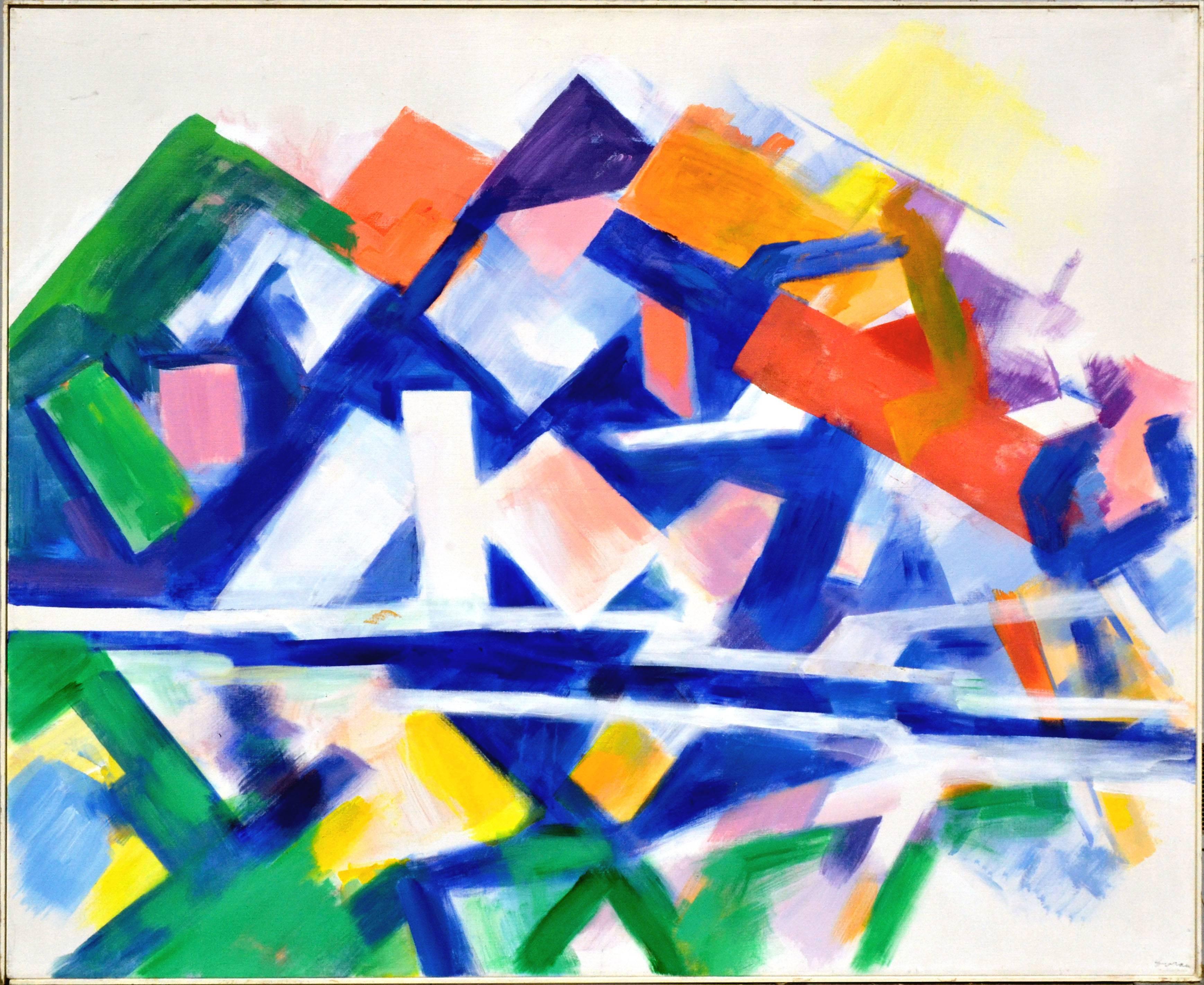 Berkeley Hills Abstract Geometric Landscape