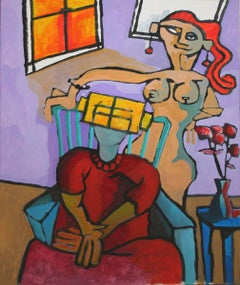 Two Women Abstracted Figurative