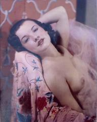 Nude Model Tricolor Carbro 1930's in a Dorothy Lamour Pose