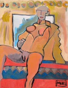 Nude Woman with Jacket Resting