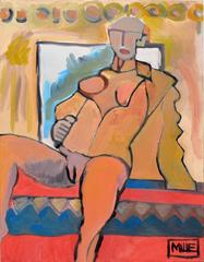 Nude with Jacket Resting