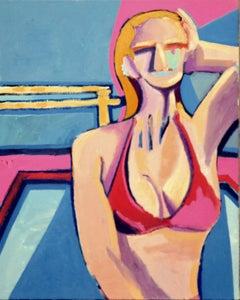 Modernist Red Top/Blonde Figurative